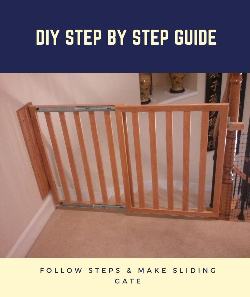 how to make a sliding dog gate