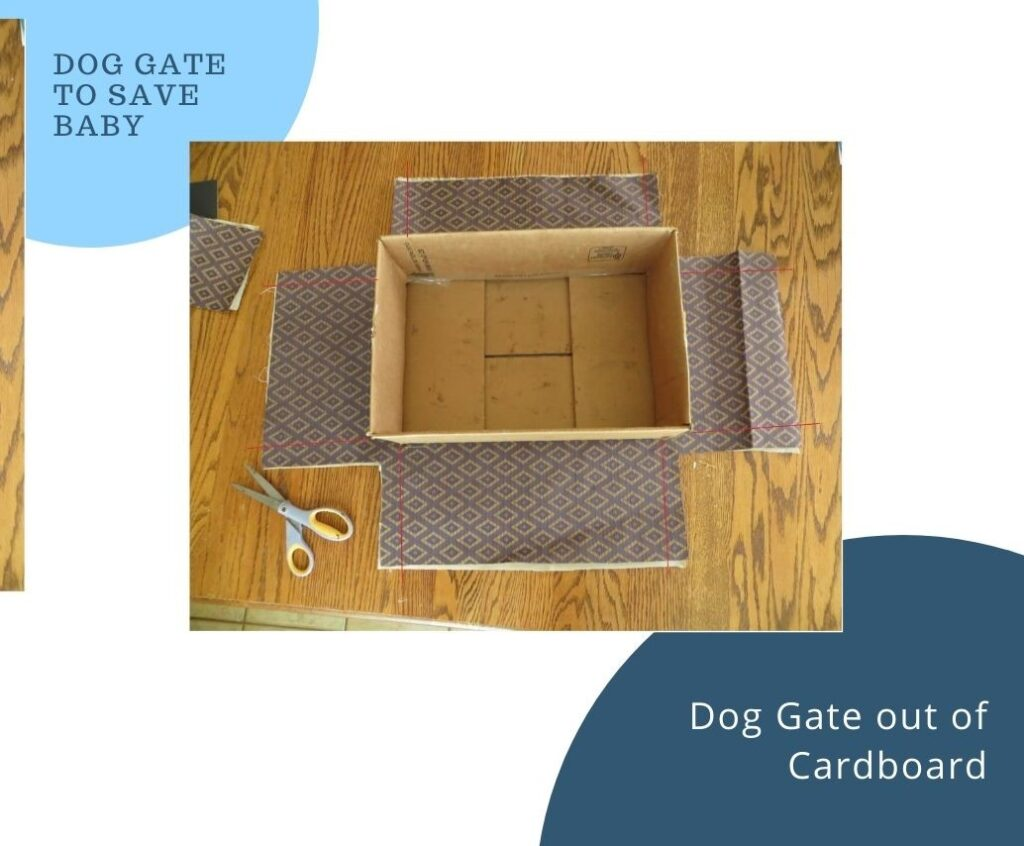how to make a dog gate out of cardboard